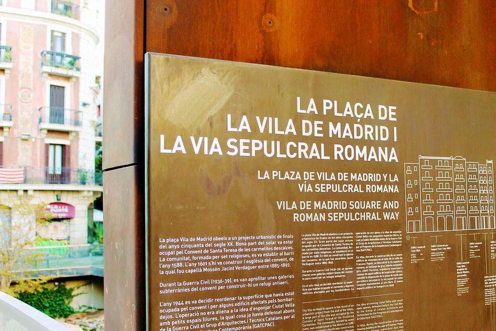 Drawing Dreaming - visitar Barcelona - Plaça Vila de Madrid