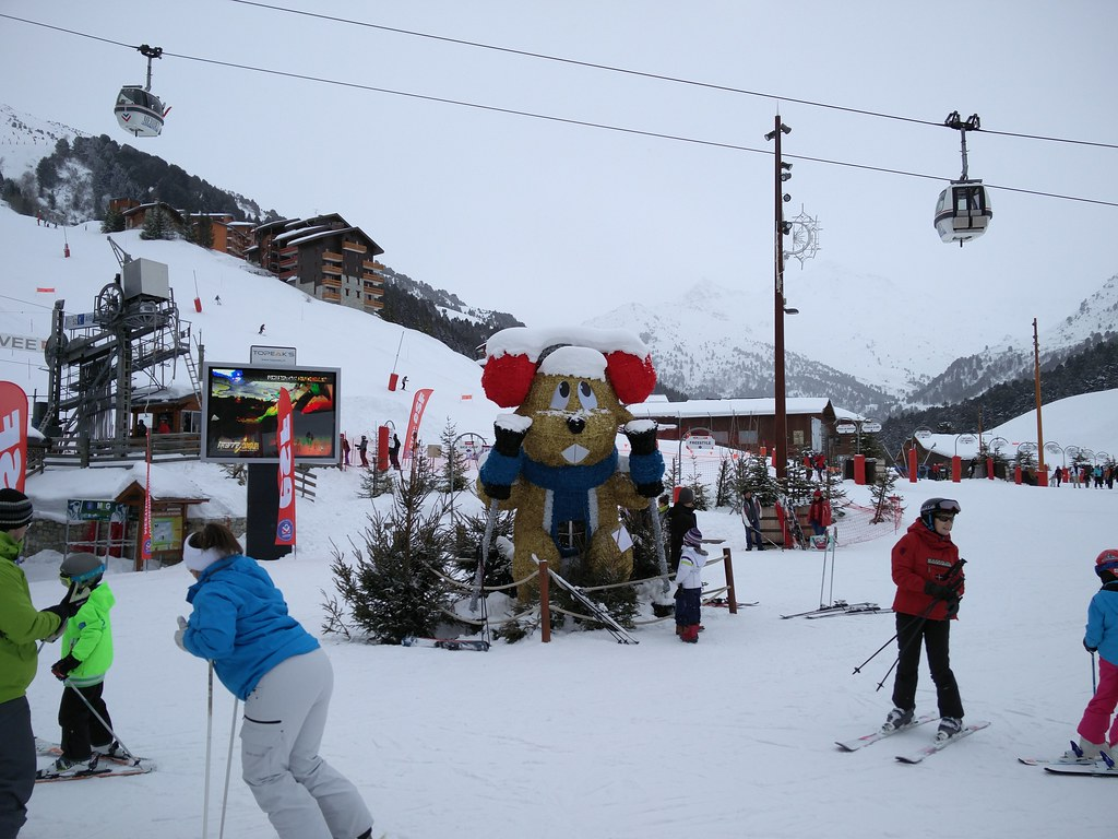 Base of Meribel Mottaret