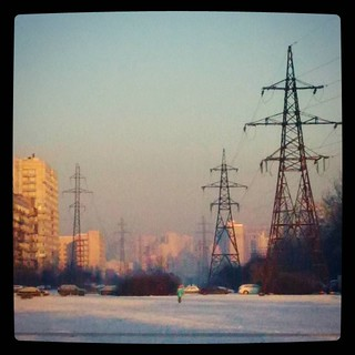 Dreamy giant structures in the distance. For #365days project.