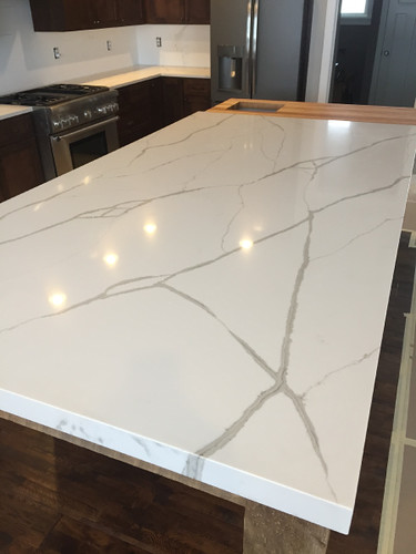 Dupont Zodiaq Calacatta Natura Kitchen Counter Tops In