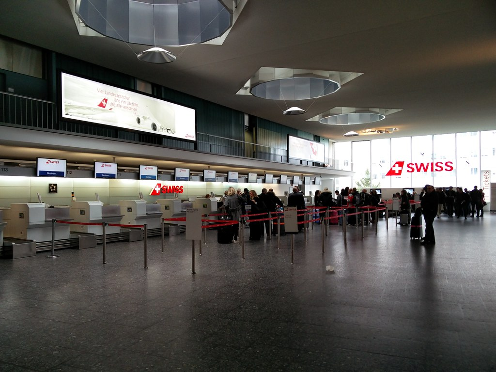 Swiss check-in counters