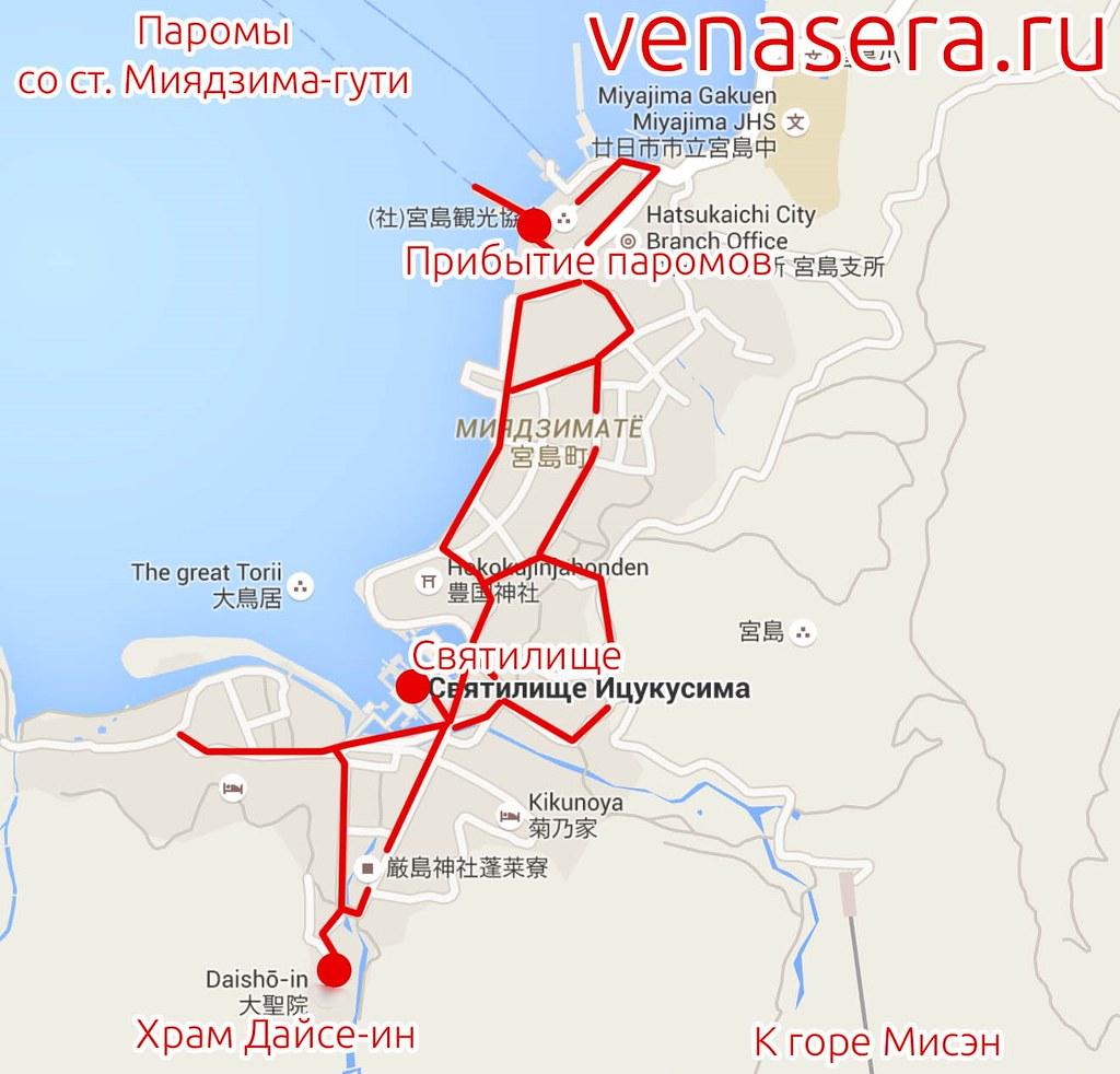 Карта острова Миядзима