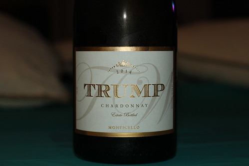 Will Someone Actually get Dinner with Donald? (Trump Chardonnay picture)