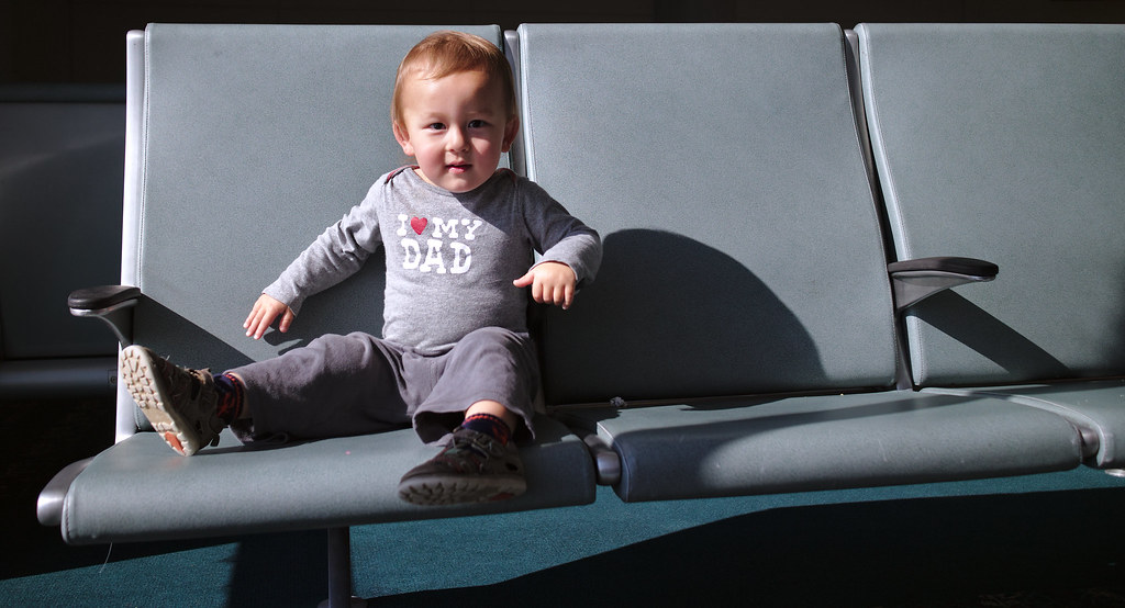 Airport bench toddler