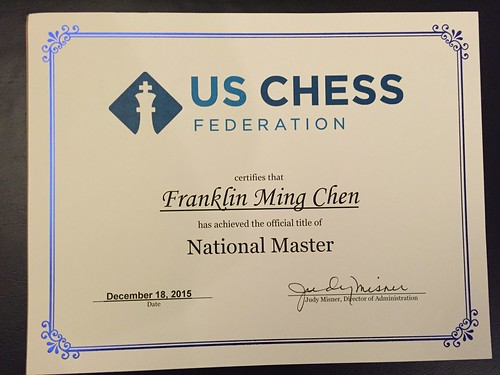 National Master certificate