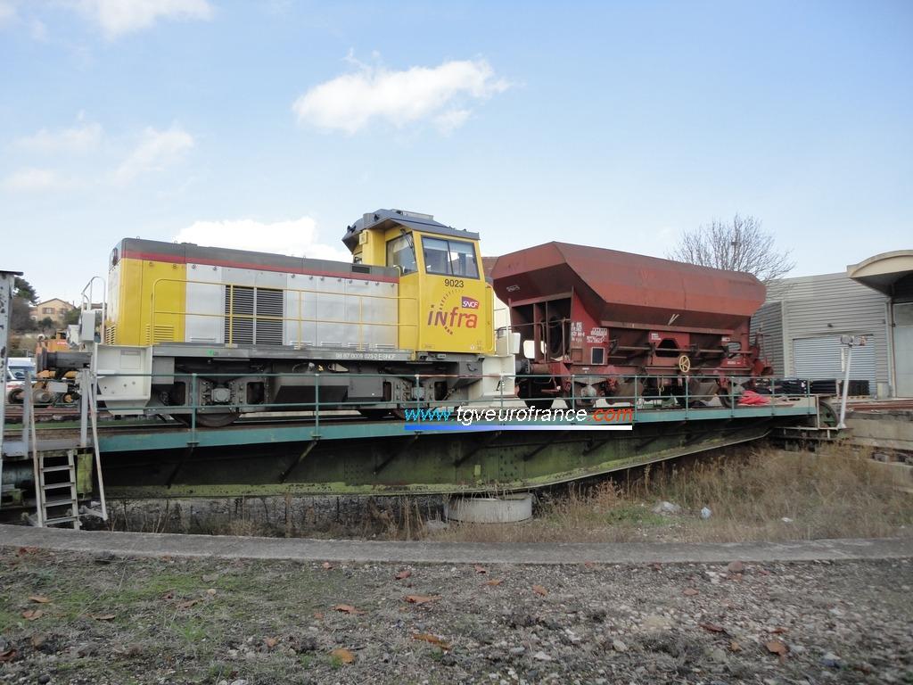 Le locotracteur Y 9023 de SNCF Réseau