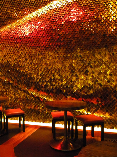 Glittering Fish Scale Wall in Las Vegas, USA