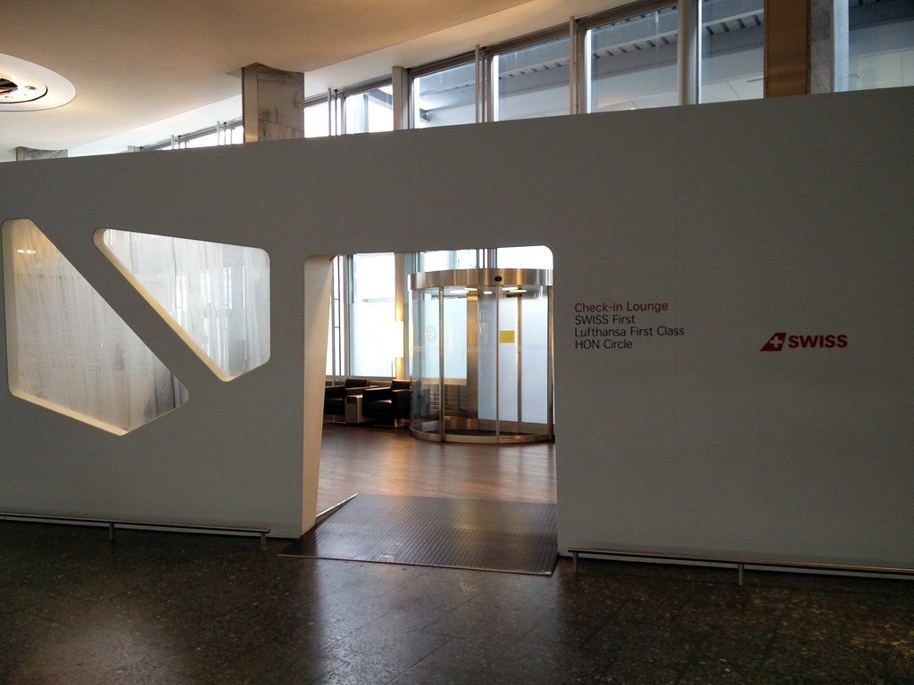 Swiss First check-in area