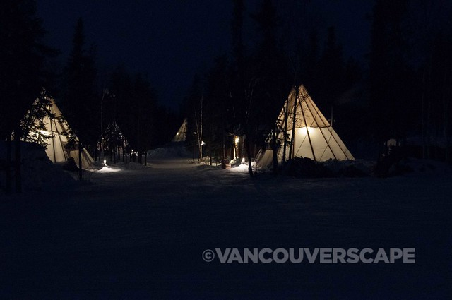 Teepees in Aurora Village, Yellowknife