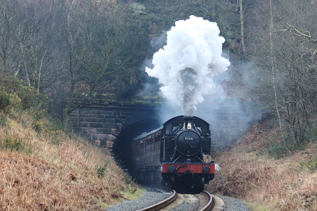 Severn Valley Railway spring steam gala...and steam loco 4566 at Bewdley Tunnel.