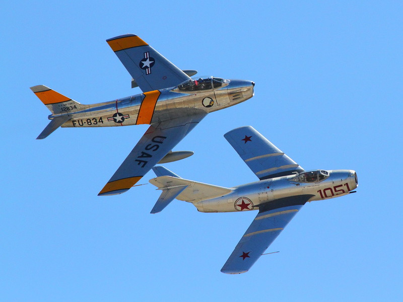 IMG_8624 F-86 and Mig-15