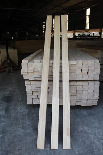 Thanh ghép dọc gỗ cao su