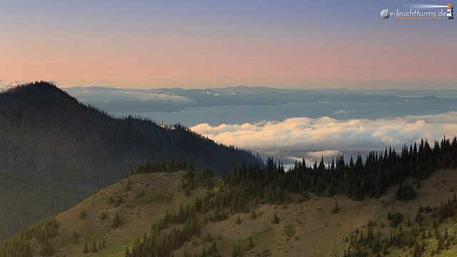View from Hurricane Ridge to Vancouver Island