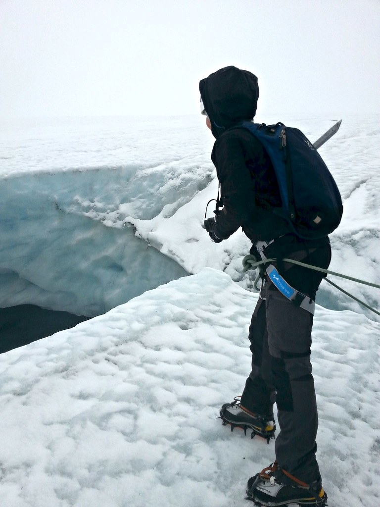 When a small girl stepped on a small, enormous glacier | Live now – dream later travel blog