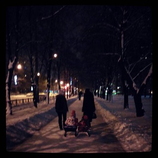 Holding hands while being towed in sleigh. How is it going: friendship is magic? For #365days project.
