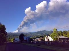 Volcán Llaima En Erupción