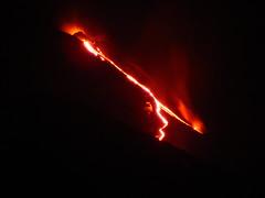 Volcán Llaima, rio de lava