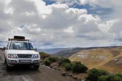 Lesotho mountains, sunshine and clouds