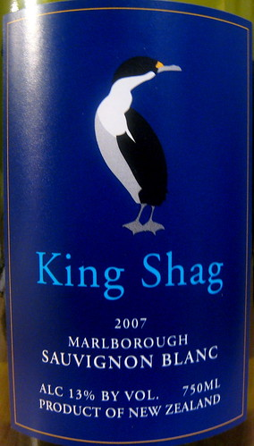 King Shag 2007 Sauvignon Blanc (front) | by 2 Guys Uncorked