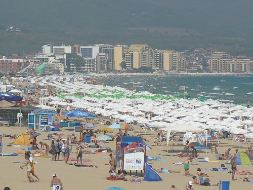 Crowded Sunny Beach, Bulgaria | by phototouring