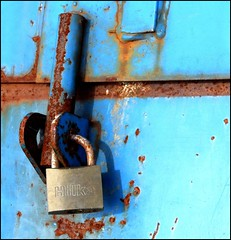 Locked rust blue | by tina negus