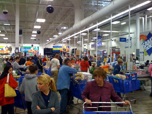 Check out lines at Sams Club. Its ridiculous in here. | by Jason_Percival