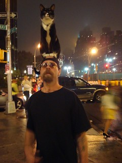 Man with Cat on Head | by Robert M. Errera