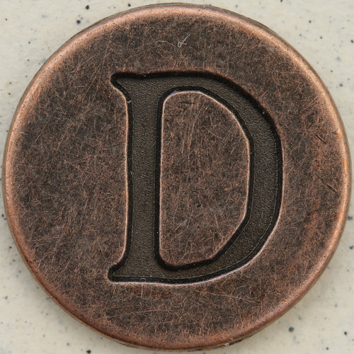 Copper Uppercase Letter D | by Leo Reynolds