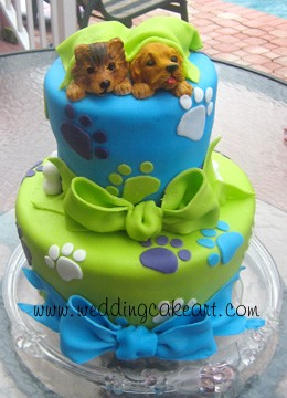 Dog Birthday Cake Birthday Cake For Twin Girls Who Love