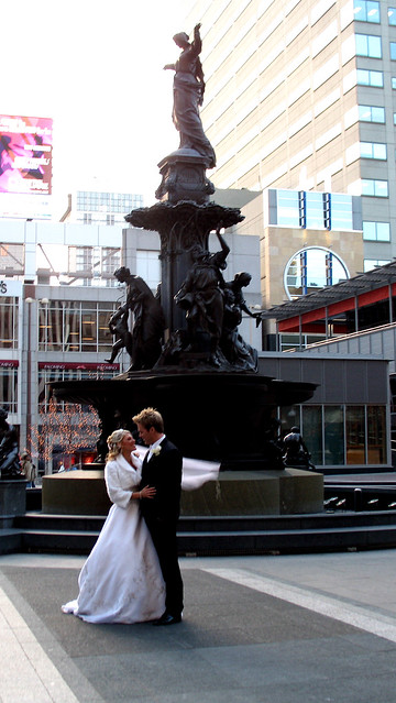Fountain Square Wedding