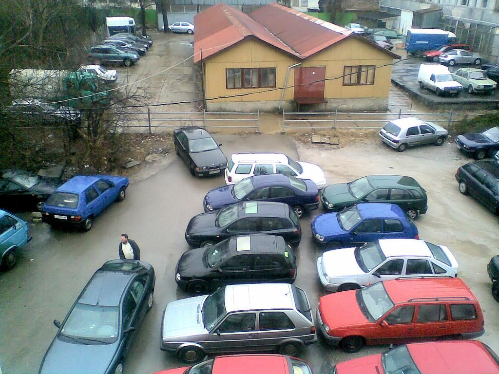 Иллюстрация внутреннего вида паркинга