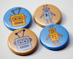 Toy Robots - pinback buttons | by jnhkrawczyk
