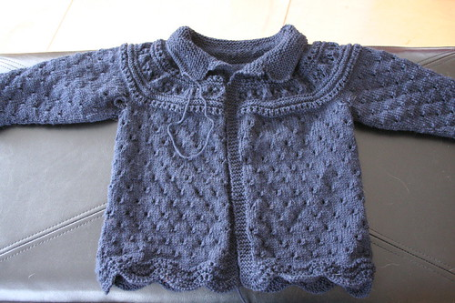 Yoked Lace Baby Sweater | by ElinorB