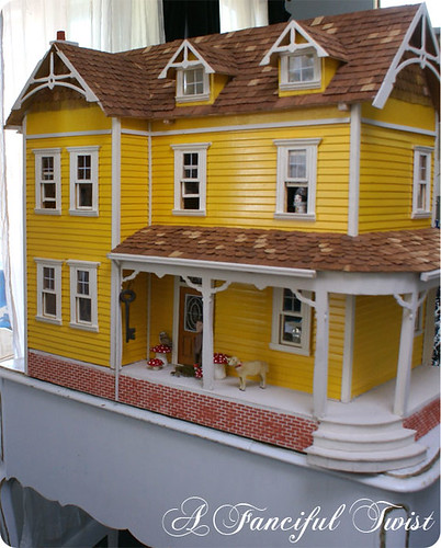 Magic Yellow Dollhouse | by A Fanciful Twist