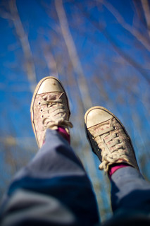 Swinging with converse and blue skies | by sarahwoo