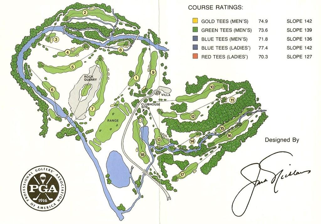 Valhalla Golf Club Map Valhalla Golf Club Louisville