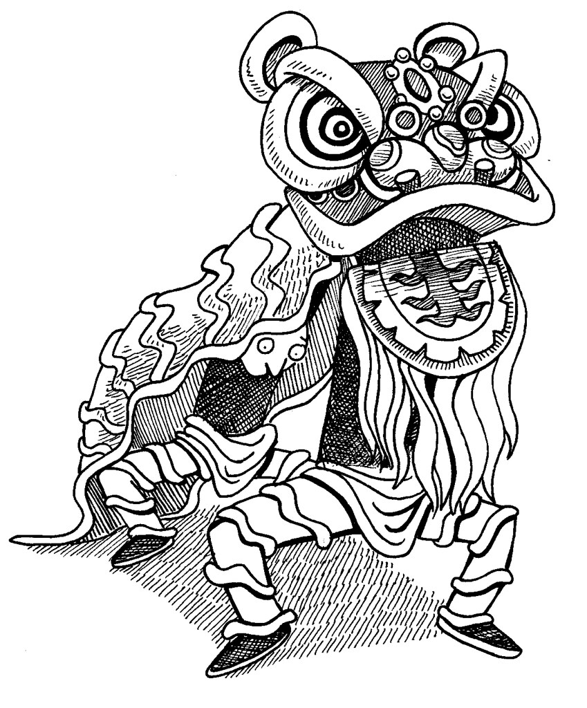 Lion Dancing Drawing Lion Dance | by Roger