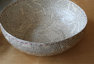 paper maché bowl | by the lulu bird