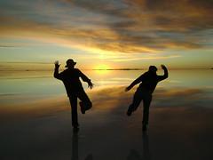 Sunrise over the Salar de Uyuni by McLuckster