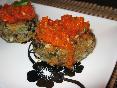 Eggplant Croquettes with Roasted Red Pepper Sauce | by Kevin - Closet Cooking