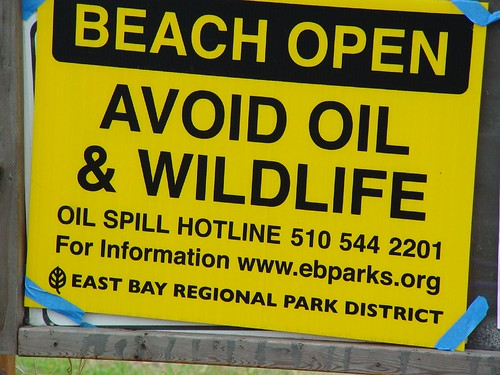 Oil Spill Sign | by Blind Grasshopper