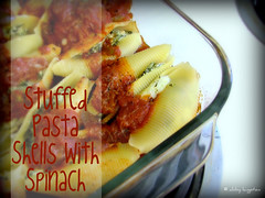 Stuffed Pasta Shells with Spinach | by Confabulation