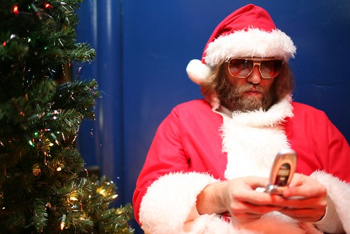 santa texting | by laura musselman duffy
