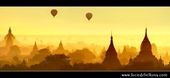 Myanmar - Balloons Flying over Mystical Bagan during Wonderful Sunrise | by © Lucie Debelkova / www.luciedebelkova.com