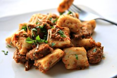 Ricotta Gnocchi with Roasted Red Pepper Pesto | by The Noshery