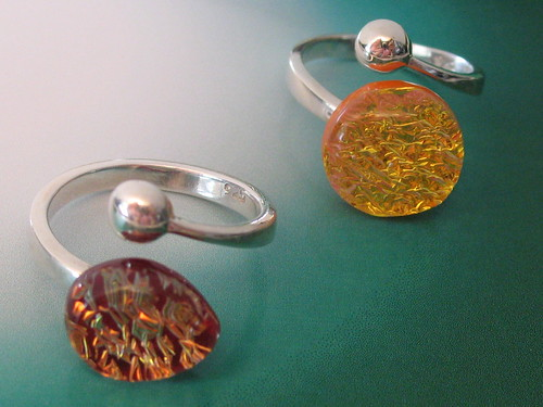 Dichroic Glass Rings How To Attach Metals