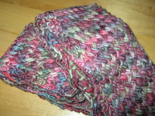 malabrigo cross stitch scarf | by lyra_ronfrey