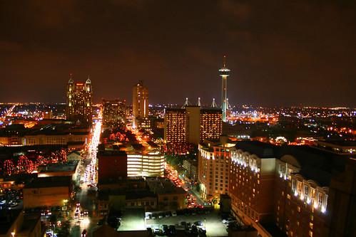 San Antonio Skyline From Drury Rooftop Explore