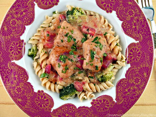 Creamy Baked Chicken Curry w/ Tomatoes, Broccoli and Pasta | by CinnamonKitchn