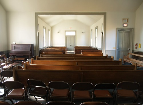Piano & Pews & Folding Chairs, Meeting House At Sandy Spring Friends School (Sandy Spring, MD) | by takomabibelot